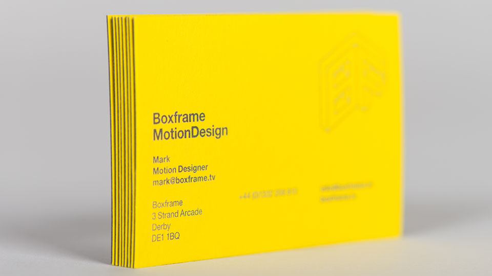 Boxframe Business Card Design