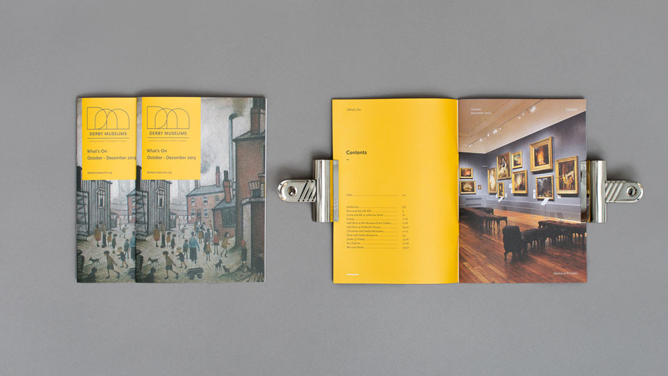 Graphic Design for Derby Museum & Art Gallery
