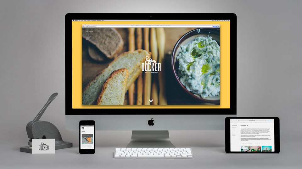 Web Design for Sam Docker Photography