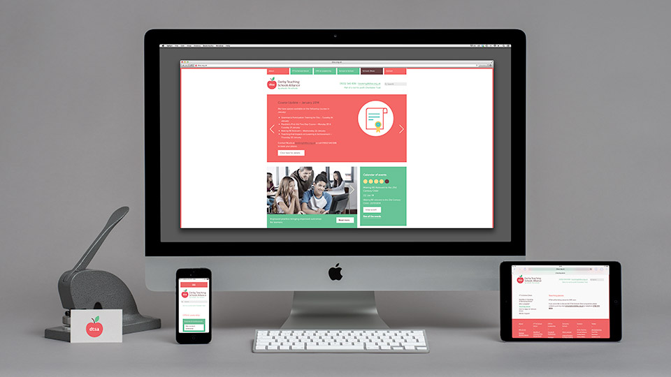 web design for derby teaching schools alliance